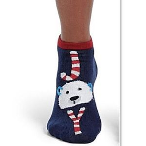 NWT Hue Polar Bear Joy 2-pack Plush Socks OS